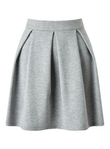 Miss Selfridge Grey Ponte Skater Skirt