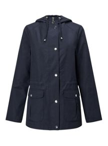 Miss Selfridge Navy Lightweight Parka