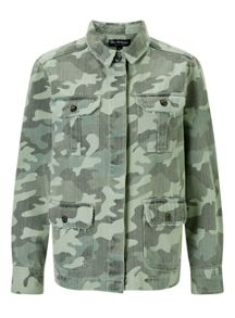Miss Selfridge Army Camo Shacket