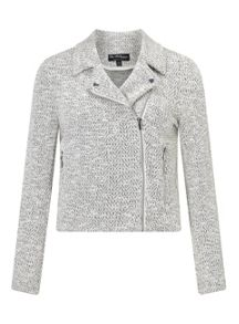 Miss Selfridge Stone Textured Biker