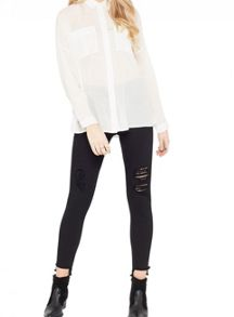 Miss Selfridge Ivory Casual Shirt