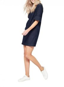 Miss Selfridge Flute Sleeve Denim Dress