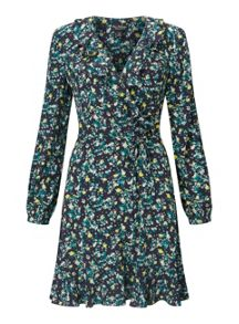 Miss Selfridge Floral Ruffle Tie Dress