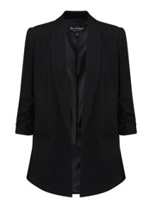 Miss Selfridge Petites Ruched Sleeve Blazer