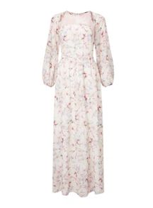 Miss Selfridge Lace Yoke Floral Maxi Dress