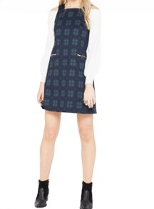 Miss Selfridge Check Pinny Dress