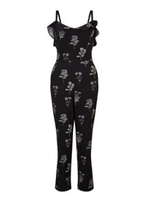 Miss Selfridge Print Ruffle Strap Jumpsuit