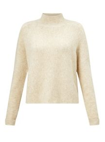 Miss Selfridge Crop Funnel Neck Jumper