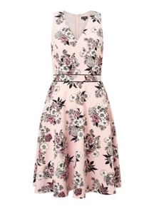 Miss Selfridge Pink Flroal Fit And Flare