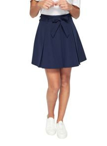 Miss Selfridge Navy Flippy Belt Skirt