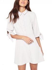 Miss Selfridge Petites Tie Sleeve Shirt Dress