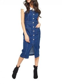 Miss Selfridge Split Front Denim Dress
