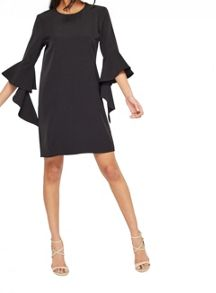 Miss Selfridge Black Extreme Sleeve Tunic