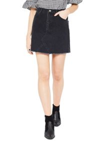 Miss Selfridge Black Authentic Denim Skirt