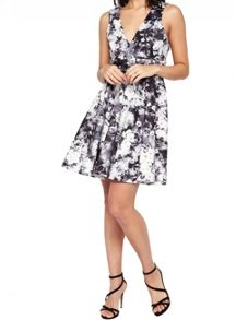 Miss Selfridge Photographic Floral Prom Dress
