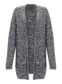 Miss Selfridge Blk Ll Boucle Cardi