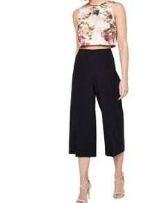 Miss Selfridge Black Cropped Wide Leg Trouser