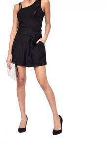 Miss Selfridge Blk Paperbag Short