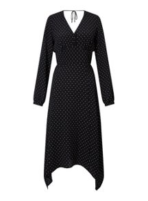 Miss Selfridge Polka Dot Hanky Hem Dress