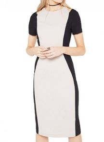 Miss Selfridge Colourblock Cutout Dress