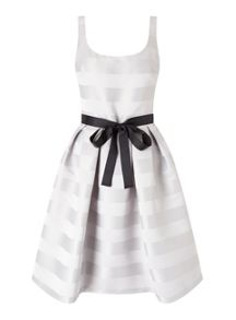 Miss Selfridge Stripe Prom Dress