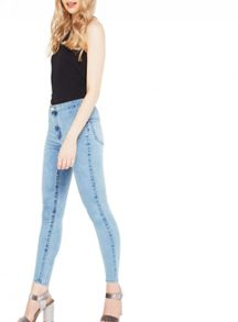 Miss Selfridge Steffi Acid Blue Jean