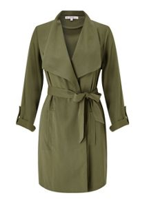 Miss Selfridge Petite Khaki Duster Jacket