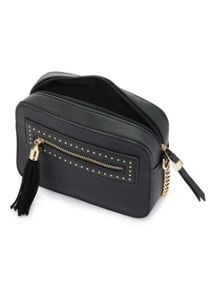 Miss Selfridge Cross Body Box Bag Black