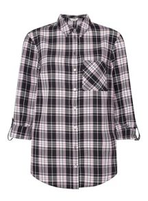 Miss Selfridge Pink Check Shirt