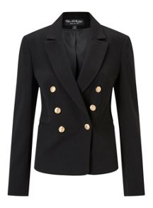 Miss Selfridge Black Military Blazer