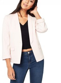 Miss Selfridge Blush Ponte Blazer