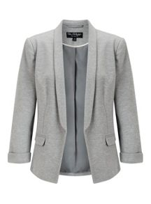 Miss Selfridge Grey Ponte Blazer