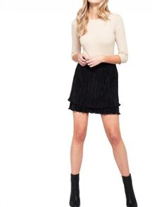 Miss Selfridge Blk Rara Skirt