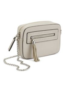 Miss Selfridge Cross Body Box Bag Grey