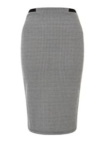 Miss Selfridge Dogstooth Pencil Skirt