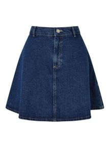 Miss Selfridge Indigo Denim Skater Skirt