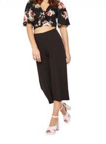 Miss Selfridge Oversized Floral Angel Sleeve Crop