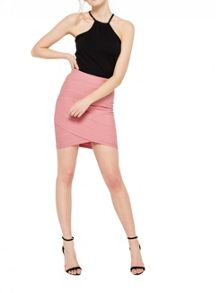 Miss Selfridge Pink Bandage Skirt