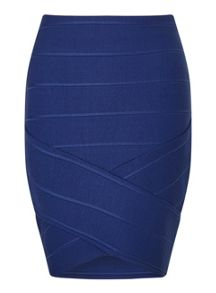 Miss Selfridge Blue Bandage Skirt
