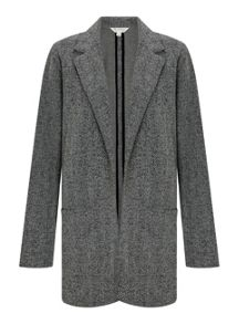 Miss Selfridge Black Tweed Boyfriend Blazer