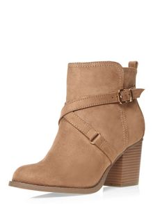 Dorothy Perkins Wide Fit Nude `Wava` Boots