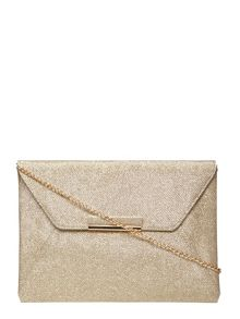 Dorothy Perkins Glitter Envelope Clutch Bag
