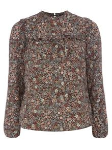 Dorothy Perkins Ditsy Daisy Long Sleeve Top
