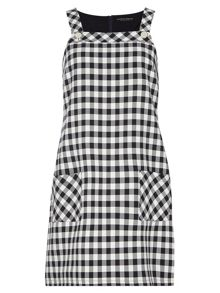 Dorothy Perkins Check Ponte Shirt Dress