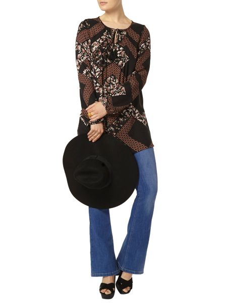 Dorothy Perkins Floral Tie Tunic