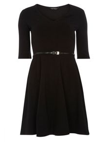 Dorothy Perkins V Neck Belted Dress