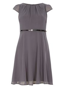 Dorothy Perkins Billie Petites Chiffon Belted Dress