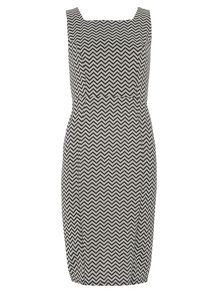 Dorothy Perkins Chevron Print Pinny Dress