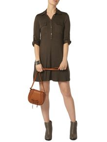 Dorothy Perkins Jersey Shirt Swing Dress