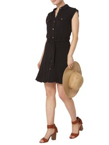 Dorothy Perkins Sleeveless Shirt Dress